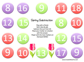 Free Subtraction from 20 Game