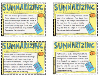 image about Free Printable Task Cards identified as Free of charge Summarizing Process Playing cards (Printable Box Involved)