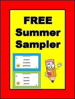 Free Summer Activities Sampler
