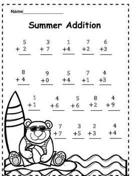 Free Summer Addition Practice