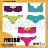 Free Summer Bikini Clipart by Revidevi