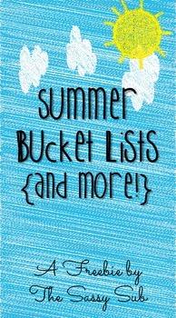 Free Summer Bucket Lists
