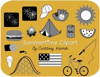 Summer Clipart for Commercial Use