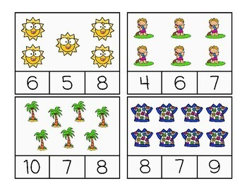 Free Summer Count and Clip Cards
