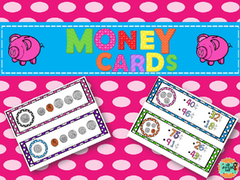 Free Summer Counting Money Task Cards