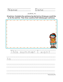Free Summer Journal Prompt