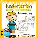 Free Kindergarten Math Worksheets - Summer