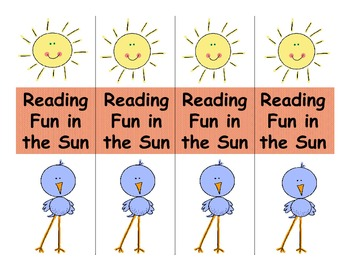Free Summer Reading Bookmark