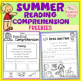 Free Summer Reading Comprehension
