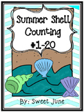 Free Summer Shell Counting 1-20
