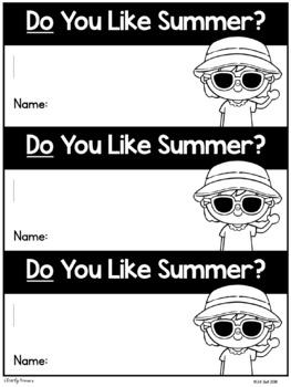 Free Summer Sight Word Interactive Reader: do