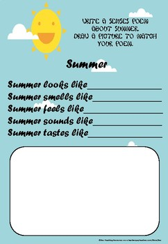 Free Summer Themed Poem Pack
