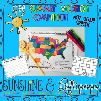 Free Summer Vacation Companion Activities and Worksheets Not Grade Specific