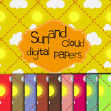 Free Sun and Cloud Digital Papers