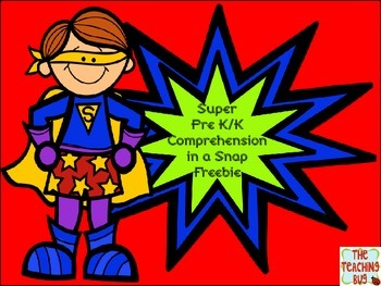 Free Super Comprehension Pack in a Snap -Pre-K/Kindergarten
