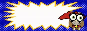Super Hero Comic Book Themed Border Frames!