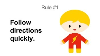 Free Super Heroes Whole Brain Teaching Rules