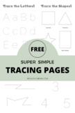 Free Super Simple Tracing Pages