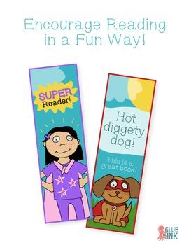 Free SuperKids Superhero Mini Bookmarks