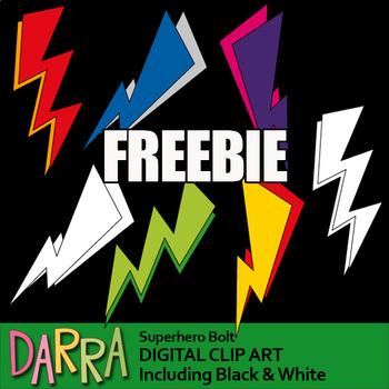 Free Superhero Clipart - Bolt clip art