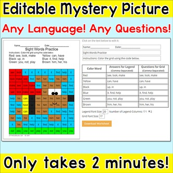 Free Superhero Dog Editable Mystery Picture - Any Language! Any Questions!