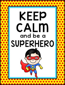 Superhero Classroom Poster - Free Downloads
