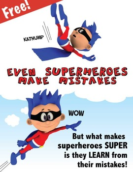 Free Superhero Poster - Even Superheroes Make Mistakes