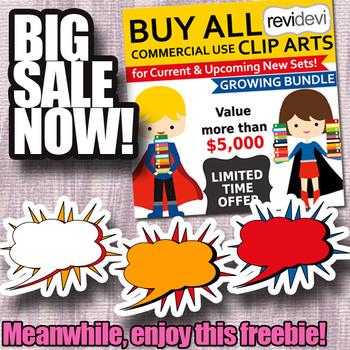 Free Superhero Speech Bubbles Clip art & Sale info
