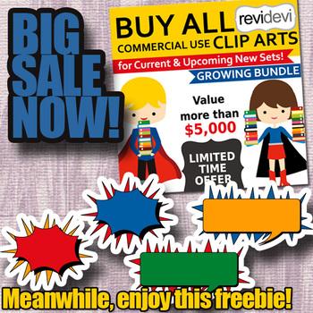 Free Superhero Talk Bubbles Clipart & Buy All SALE