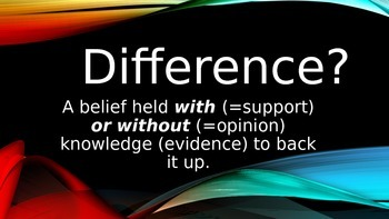 Support vs Opinion:  What's the Difference?