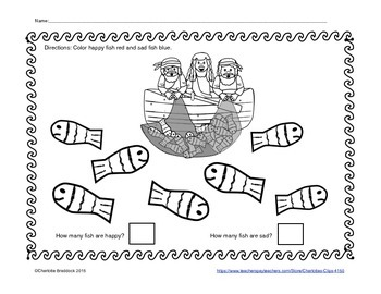 Free Surprise Catch Printable - Color and Count by Charlotte's Clips