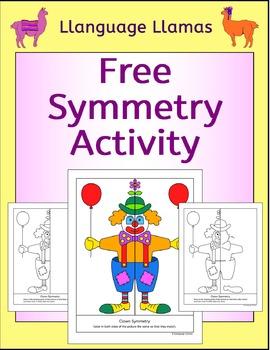 Free Symmetry Activity - Circus Clown - NO PREP