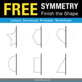 Free Symmetry Drawing Worksheet - Basic Shapes - Line of Reflection