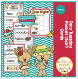 Free Taco Tuesday Pocket Chart Cards