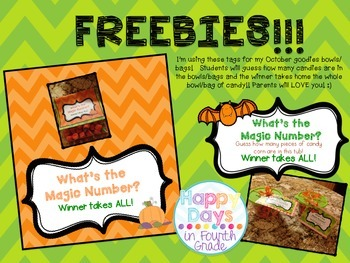 Free Tags - Halloween Candy Tags {Guessing Game}