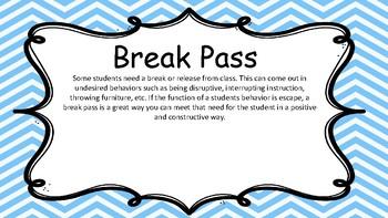 Free- Take a break -Basic behavior Intervention!