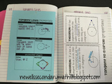 Free Tangent Lines to a Circle Properties Foldable