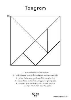Free Tangram Puzzle (Make and Colour Your Own Tangram)