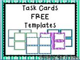 Free Task Card Templates