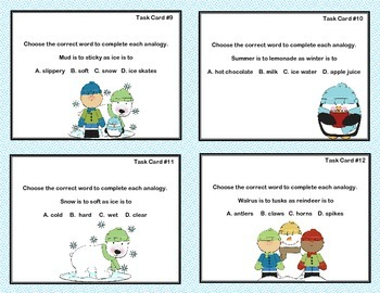 Free Task Cards All About Analogies Grade 2
