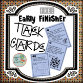 Free Task Cards For Early Finishers