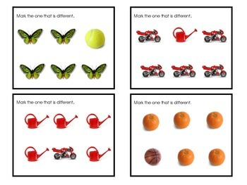 Free Task Cards- Real Photos Which is Different? (By: AutismClassroom.com)