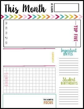 Free Teacher Binder Notes
