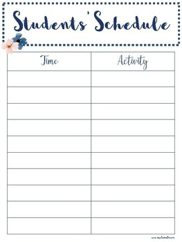 Free Teacher Binder Printable