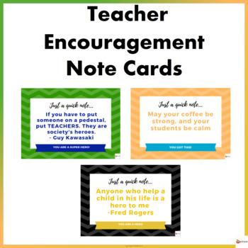 Free Teacher Encouragement Note Cards