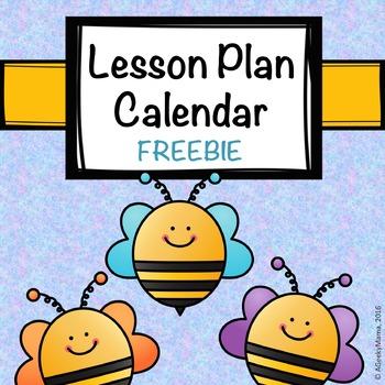 Free Teacher Planner Calendar Multiple Subject