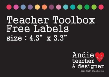 Teacher Toolbox Labels Free - Black and White