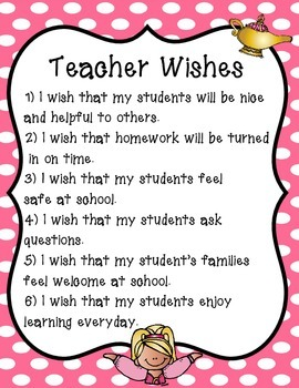 Free Teacher Wishes Poster