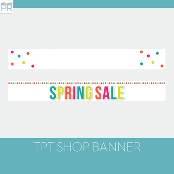 Free Teachers Pay Teachers Banners // Bright Spring Colors - Free100