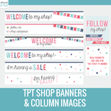 Free Teachers Pay Teachers Banners // TPT Banners with Bun